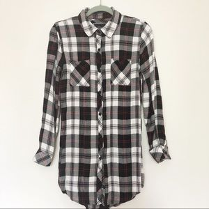 Rails plaid shirt dress size Small